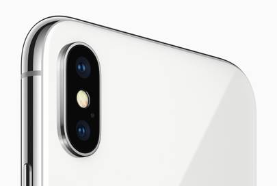 The dual lens camera on the iPhone X