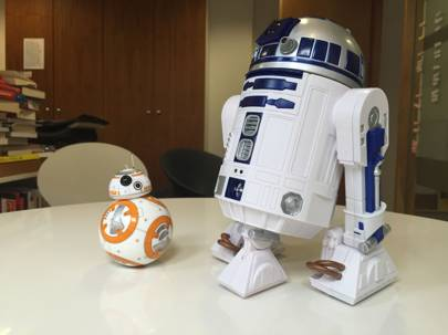Sphero BB-8 (left) meets its older, noisier cousin