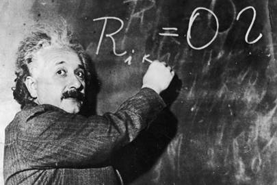 Einstein = clever. Black holes seemingly affected by relativity