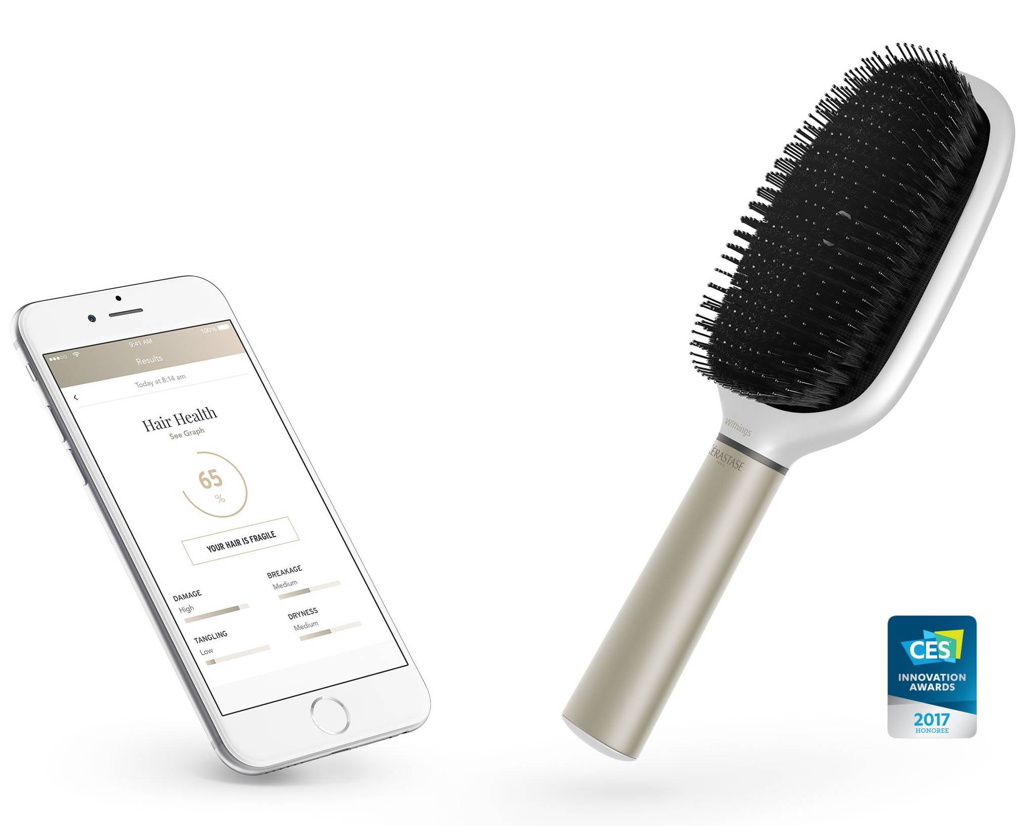 Loral Withings And Krastase Have Launched An Internet Connect Hair Brus Hairbrush Wired Uk