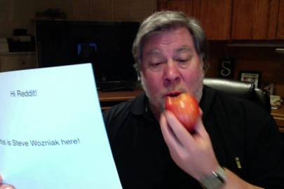 Wozniak's proof of identity for his AMA
