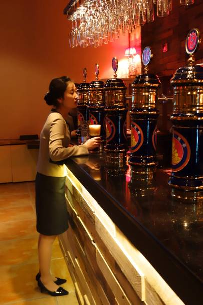 Taedonggang Craft Brewery bar, Pyongyang