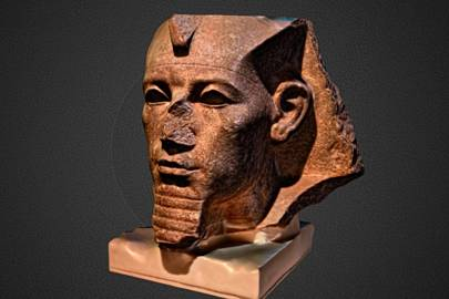 Sketchfab users can download this scan of Pharaoh Amenemhat III's granite head to 3D print at home