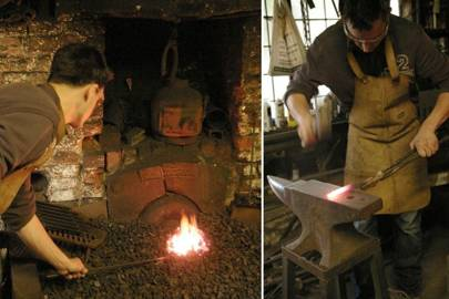 Dartnell forged his own steel knife with the help of a 1700s-era blacksmith