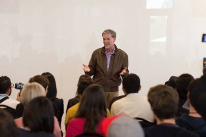 Netflix CEO Reed Hastings during a Q&A session at Netflix Labs Day