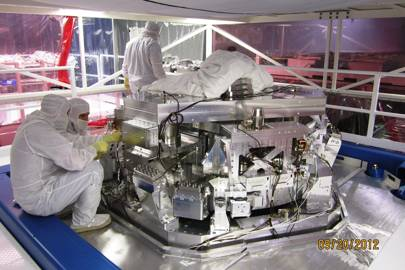 The LIGO research unit's beam splitter