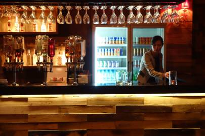 Taedonggang Craft Brewery bar, Pyongyang, North Korea