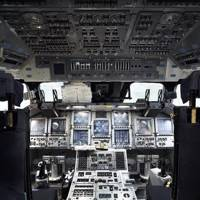 Space Shuttle training cockpit