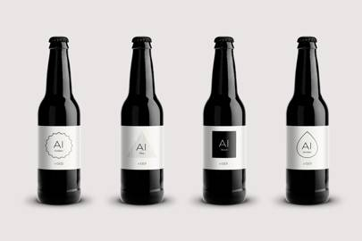 Four ales have been brewed with the help of AI: golden, amber, pale and black