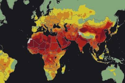 92% of the world's population lives in places where air quality levels exceed WHO limits