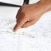 Plotting the cable route from the Rjim Maatoug region of Tunisia
