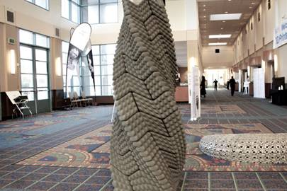 The aptly named Quake Column is a knurled pillar of 3-D printed concrete that combines an ancient Incan masonry technique with state-of-the-art manufacturing tools to create a structure that can withstand seismic shocks without mortar or rebar