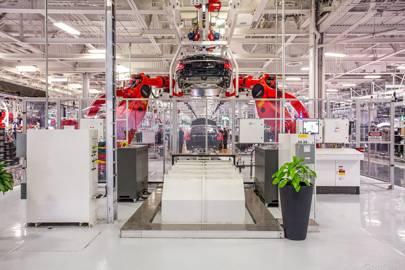 inside a Tesla factory