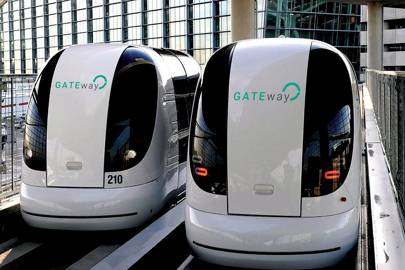 The autonomous pods that will be used in Greenwich