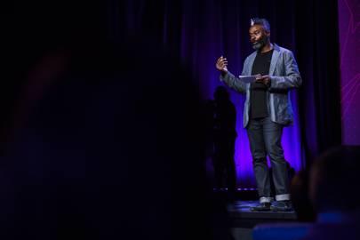 Host Emeka Okafor at TEDGlobal 2017