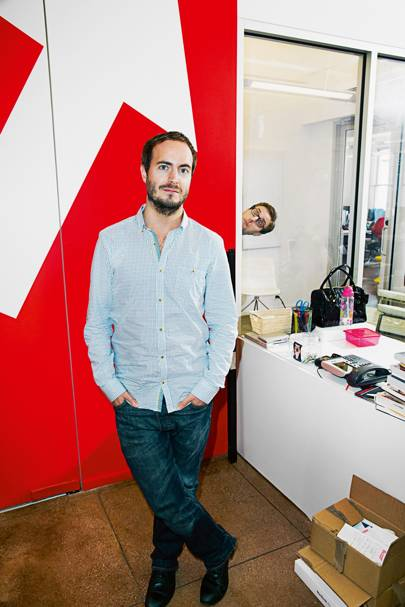 Luke Lewis, BuzzFeed's new UK editor, who happened to be visiting the New York office when Wired was in town