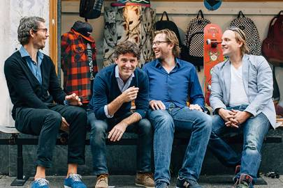 BUX co-founders Egbert Pronk, Nick Bortot, Robbert Bos and Joost van de Wijgerd