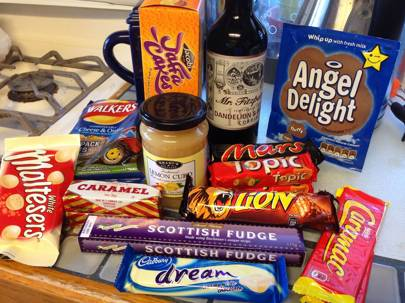British chocolate and other junk food