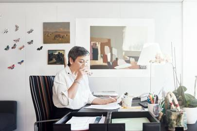 Margrethe Vestager at work in the Berlaymont, which houses the European Commission's Brussels headquarters