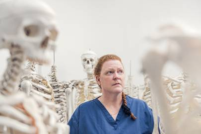 Professor Sue Black pictured at the University of Dundee's Centre for Anatomy and Human Identification, July 2017