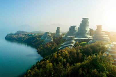 Topographic towers: the Chinese mountain village that blends into the landscape