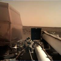 NASA's InSight Mars lander acquired this image using its robotic arm-mounted, Instrument Deployment Camera