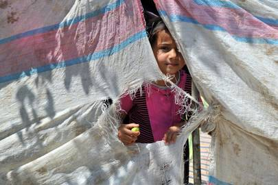 Unidentified Syrian refugee on the Syria-Turkey border