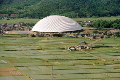 Dome in Odate (multipurpose dome), 1993-1997, Odate-shi, Akita, Japan