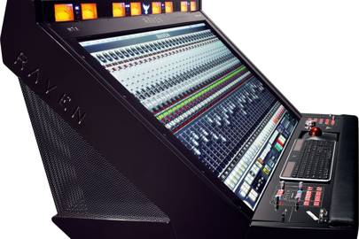 On the 46-inch screen, plugins become the size of 19 inch outboard gear, so you can tweak them easily. There are four speaker and eight channel-cue outputs, plus a 7.1 module, USB ports and an iPhone dock