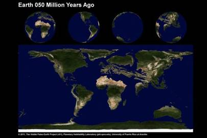 Earth 50 Million Years Ago