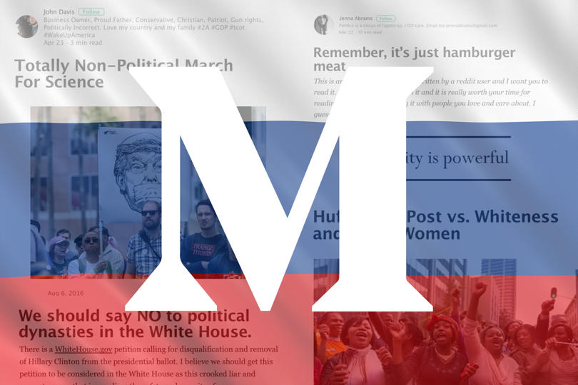 Yup, the Russian propagandists were blogging lies on Medium