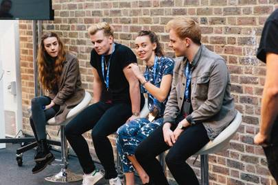 YouTube-ing siblings, the Mandeville Sister and NikiNSammy, giving their social media tips at WIRED Next Generation 2016