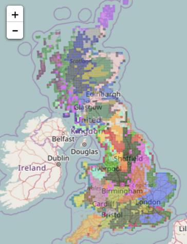 The Centre for Ecology and Hydrology has created an interactive map to show which areas of the UK have the highest quality conditions for wildlife to thrive
