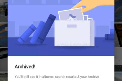 Google's new archive photo feature lets you hide your shame