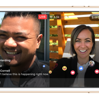Facebook Live With video streaming