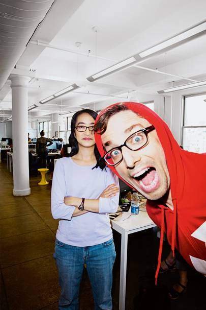 Dao Nguyen (with Peretti), BuzzFeed's director of growth and data, who came to the company from Down Jones Ventures