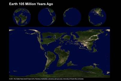 Earth 105 Million Years Ago