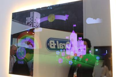 Oral B's proof-of-concept smart mirror uses brushing data to help tell a story