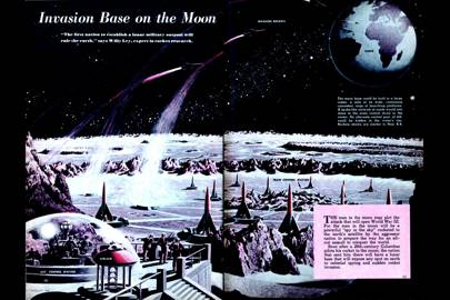 Invasion Base on the Moon -- Mechanix Illustrated, 1948