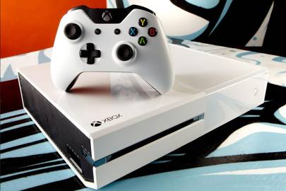 The white Xbox One bundle comes with Sunset Overdrive for £349.99