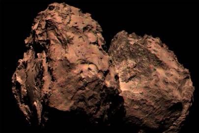 The first full-colour image of Comet 67P is a composite of different images using the full spectral range of Rosetta's camera