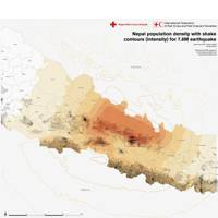 Red Cross population map