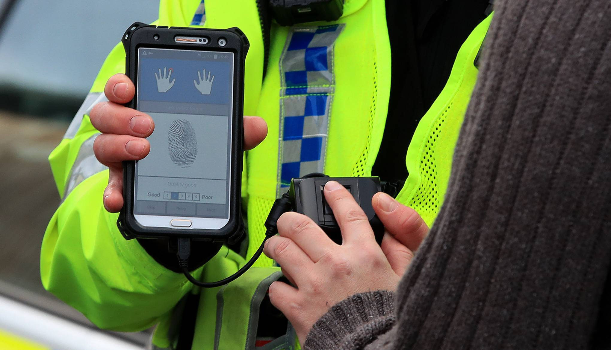 UK police are now using fingerprint scanners on the streets