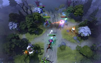 OpenAI 5 bots engage in a Dota 2 training match