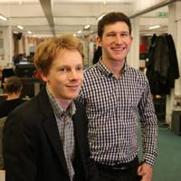 Newsflo founders Ben Kaube and Freddie Witherden