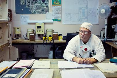Michael Malych, a lead engineer in Chernobyl's nuclear-radiation safety shop