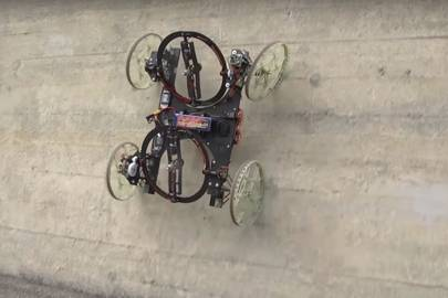 The robotic car from Disney can climb walls