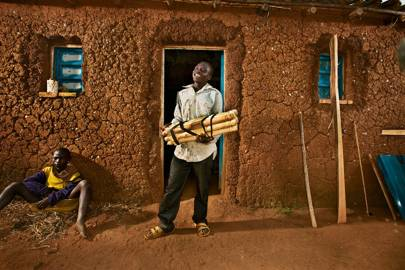 Jean de Dieu Ndahayo doesn't need to travel for water any more; as a result, his carpentry business is thriving