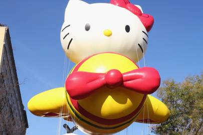 Hello Kitty balloon during the 89th Annual Macy's Thanksgiving Day Parade on November 26, 2015 in New York City.
