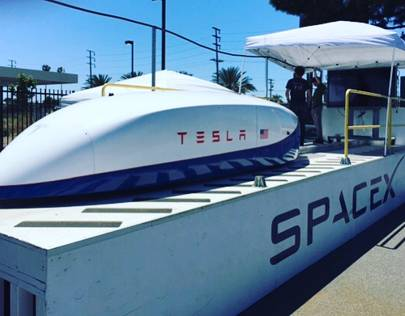 SpaceX / Tesla  hyperloop pusher pod